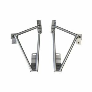 Steeda Chassis Stiffeners Rear Lower Steel Silver Powdercoated Ford Mustang Each