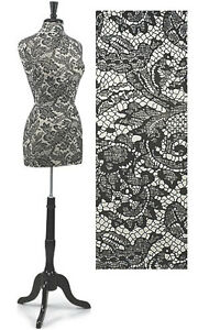 Dressmaker Dress Form Premium Women s Black White Lace Mannequin Adjustable 73