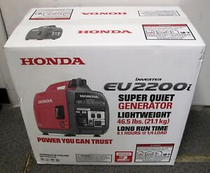 New Honda Eu2200i 2200 watt 120 volt Super Quiet Portable Inverter Generator