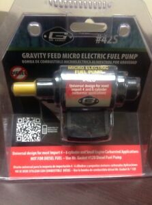 Mr Gasket 42s Gravity Feed Micro Electric Fuel Pump Nib