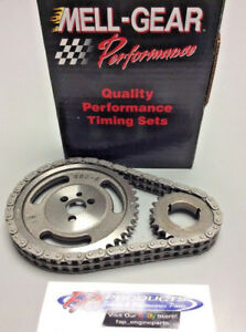 Small Block Chevy 283 327 350 Engines Double Roller Timing Set Melling 40400