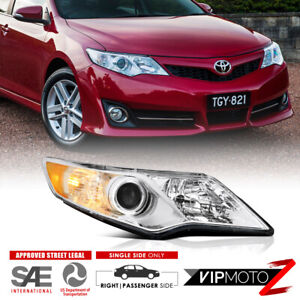 Right Side 2012 2014 Toyota Camry Se Chrome Headlight Lamp Replacement Passenger