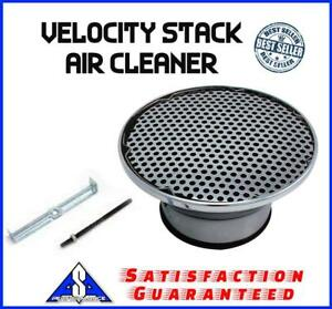 9 Chrome Air Cleaner Velocity Stack Fits Holley Sbc Bbc Edelbrock Ford Chevy