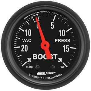 Auto Meter 2601 Gauge Vac Boost 2 1 16 30inhg 20psi Mechanical Z Series
