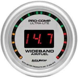 Auto Meter 4379 Gauge Air Fuel Ratio Wideband 2 1 16 Digital Ultra Lite