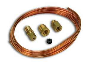 Auto Meter 3224 Tubing Copper 1 8 6ft Length 1 8 Brass Compression Fittings