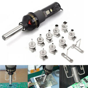1 Set Of 450w Electronic Heat Hot Air Solder Welding Tool 9 Nozzles