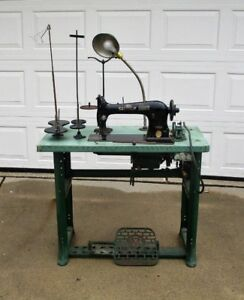 Commercial Industrial Singer Sewing Machine Model 31 15 W Table Motor Etc