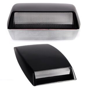 Car Suv Decorative Air Flow Intake Scoop Bonnet Vent Cover Hood Universal Black