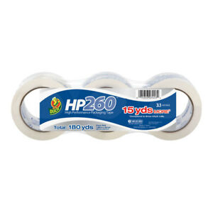 Duck Brand Hp260 Packaging Tape 1 88 In X 60 Yds clear 3 pack