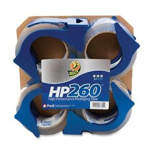 Duck Brand Hp260 Packaging Tape 1 88 In X 60 Yds clear 4 pack with Dispen