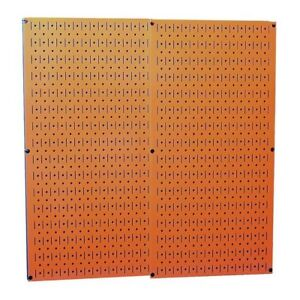 Wall Control Orange Galvanized Steel Two 16 in X 32 in Pegboard Wall Organize