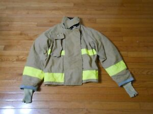 40x27 Firefighter Jacket Coat Bunker Turn Out Gear Body Guard With Kevlar Liner