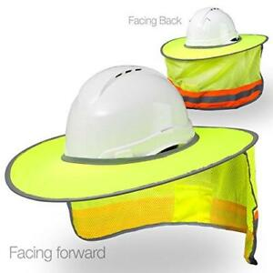 hard Hat Sun Shield High Visibility Reflective Full Brim Mesh Sun Shade Pr