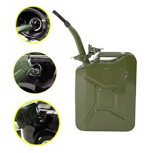 5 Gallon Gas Can Metal Jerry Gasoline Container Tank Backup Emergency 20 Liter