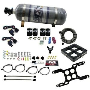 Nitrous Express 66047 12 Dominator Dual Stage Billet Crossbar Composite Bottle