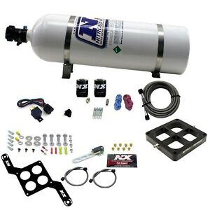 Nitrous Express 670 15 Dominator Single Entry Billet Crossbar Pro Power 15lbbo