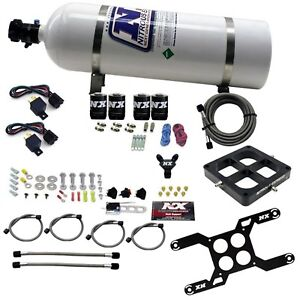 Nitrous Express 66047 15 Dominator Dual Stage Billet Crossbar 15lb Bottle