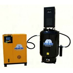 20 Hp 3 Ph Rotary Air Compressor Pkg By Eaton No China Parts 10 Yr Warranty
