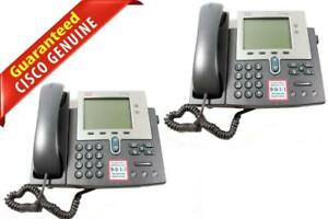 Lot Of 2 Cisco Ip Phone 7941 Unified Ip Business Telephone Cp 7941g 68 2939 03