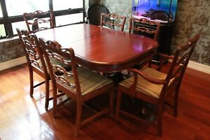 Chinese Chippendale Antique Dining Room Set