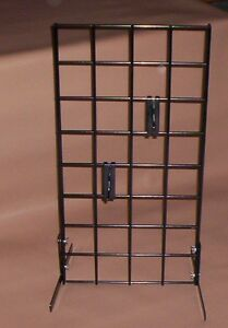 Lot Of 2 Black Countertop Racks Store Display 12 X 24 3 Oc Grid New
