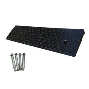 1000mm 50mmh Heavy Duty 5t Load Black Rubber Leveling Kerb Ramp