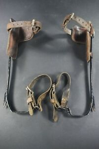Vtg 16 Bashlin 130d Lineman s Leather Tree Telephone Pole Climbing Spikes Gaffs