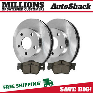 Front 2 Brake Rotors 4 Metallic Brake Pad Fits 05 2010 2011 2012 Ford Escape