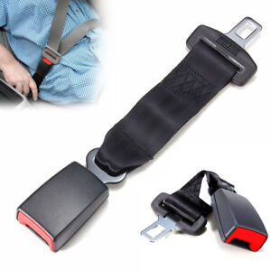 9 Car Seat Seatbelt Adjustable Safety Belt Extender Extension Buckle Black