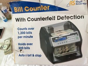Royal Sovereign Rbc 1003bk Bill Counter Uv Ir Magnetic Counterfeit Detection