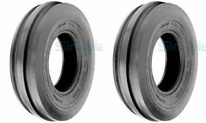 Two 5 00 15 5 00x15 500 15 Tri rib 3 rib Tubeless Tires Heavy Duty 6 Ply Rated
