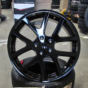 Dodge Ram Srt Style 24x10 5x139 7 Et25 Gloss Black Wheel Set Of 4 Rims