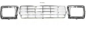 New For Ford Truck Bronco Grille 3pc In Box 78 79 Fo1200111 Fo2513115 Fo2512114