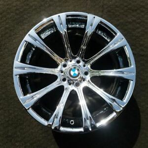 19 Inch Chrome Bmw M5 2006 2010 Rear Oem Factory Original Wheel Rim 59547