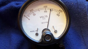 Vintage Weston Model 528 A c Volts Meter With Original Lined Leather Case