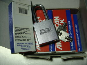 American Lock High Security Heavy Duty Padlock Lot Of 6 A7261 Tubular Cylinder