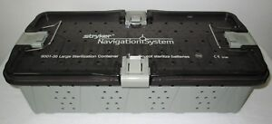 Stryker 6001 35 Navigation System Large Sterilization Container With Tray