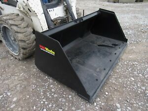 Bobcat Skid Steer Attachment 72 Snow Mulch Litter Smooth Bucket Ship 199