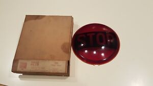Nos Vintage Stop Light Visall Red Glass Tail Light Lens New Old Stock 3216