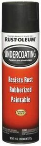 6 Cans Of Rustoleum 248657 15 Oz Black Rubberized Undercoating Spray Paint
