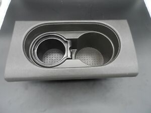 05 12 Nissan Frontier Center Console Dual Cup Holder Insert Steel Grey