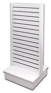 Slatwall Panel Floor Knockdown Merchandise Display Store Fixture White New