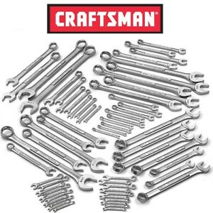 New Craftsman 63 Pc Master Combination Wrench Set Metric Sae Inch Auto 63 Piece