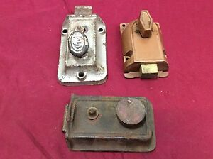 Vintage Yale Corbin Rim Deadlock Springlatch Locks Set Of 3 locksmith
