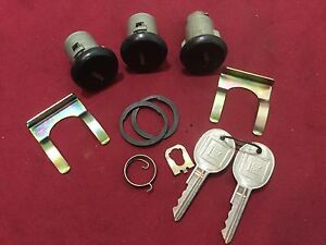 Gm Original Trunk door Locks Set Of 3 W Working Keys Locksmith