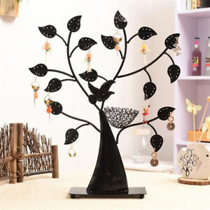 Retro Jewelry Tree Display Earring Holder Bracelet Necklace Storage Organizer Us