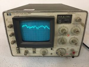 Hp Hewlett Packard 3580a Spectrum Analyzer Tested Working Poor Condition