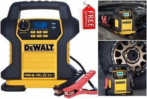 Dewalt Jump Starter 1400 Peak 120 Psi Air Compressor Battery Charger Car Auto