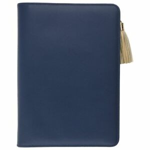 At a glance Pebble Weekly monthly Ringed Planner 5 1 2 X 8 1 2 Navy